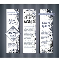 set of grunge vertical banners vector image