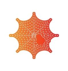 Spider on web Orange applique vector image