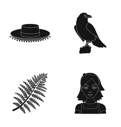 travel biology and or web icon in black style vector image
