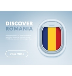 Traveling by plane flat design banner vector