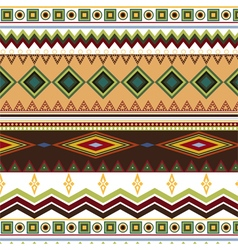 Tribal ethnic seamless stripe pattern on white vector image vector image