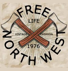 Vintage slogan man t shirt graphic design vector