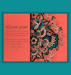 Wedding invitation card with vector