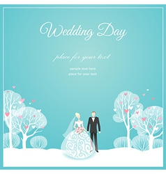 Weding park love vector