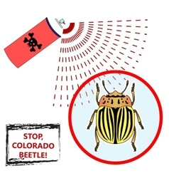 Spray against insects vector