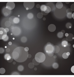 Christmas background with bokeh defocused lights vector