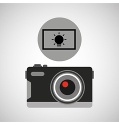 Retro camera photographic light effect vector