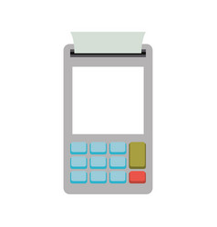 Color silhouette with payment terminal vector