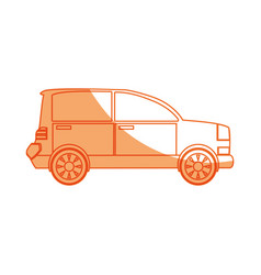 Isolated coupe car vector