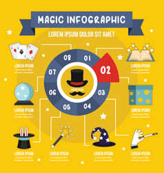 magic infographic concept flat style vector image