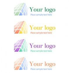 Architectural corporate logos set vector