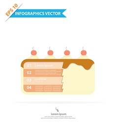 Layer cake infographics vector