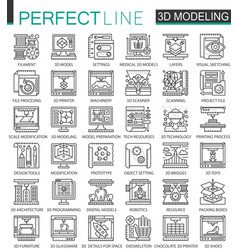 3d printing 3d modeling and scanning technology vector image vector image