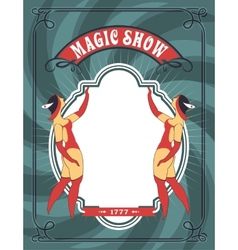 Circus dancer poster vector