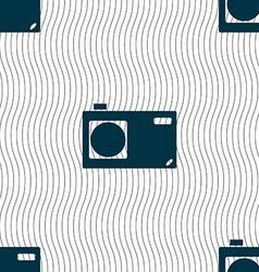 Photo camera sign icon digital symbol seamless vector