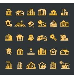 estate logo design template house or vector image