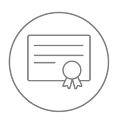 Certificate line icon vector