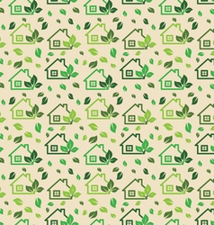 Green eco background made of small ecology green h vector