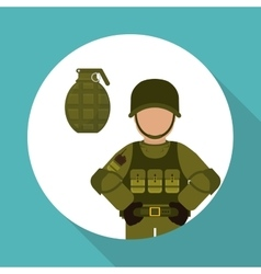Military icon design vector