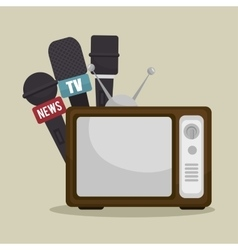 Tv news design vector