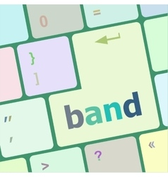 Band word on computer pc keyboard key vector