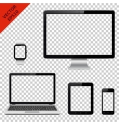 Modern technology devices with transparent screen vector