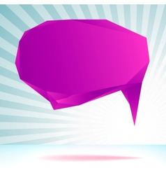 Abstract origami speech bubble template EPS8 vector image