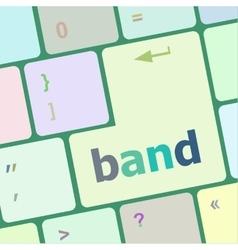 band word on computer pc keyboard key vector image vector image
