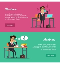 Business Baners Set vector image vector image