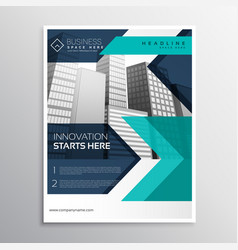 Business brochure template design in blue color vector