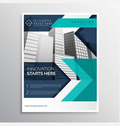 Business brochure template design in blue color vector