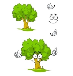 Cartoon tree with attention sign vector