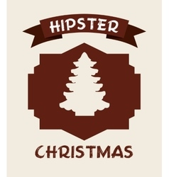 christmas hipster style vector image