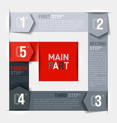 Consecutive steps design template vector image vector image