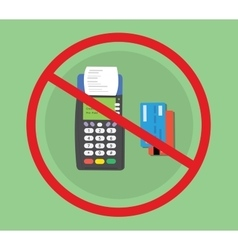 credit debit card machine hacked vector image vector image