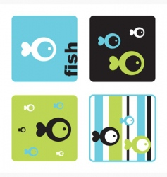 fish tmplates vector image