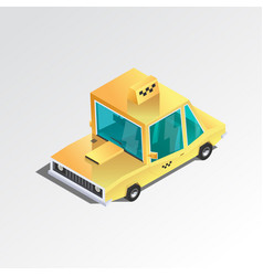 flat 3d isometric taxi vector image