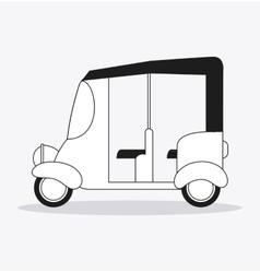 Flat about rickshaw design vector image