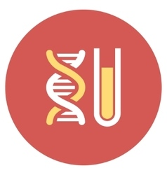 Genetic analysis flat round icon vector