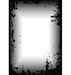 grunge halftone border vector image vector image