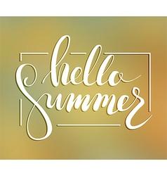 Hallo summer lettering vector image vector image