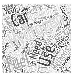 Hydrogen fuel for cars using byproducts word cloud vector