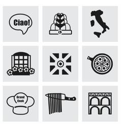 Italy icon set vector image