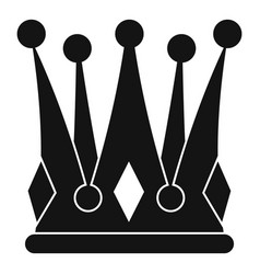kingly crown icon simple style vector image vector image