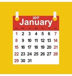 Leaf calendar 2017 vector