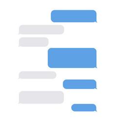 message empty bubbles vector image