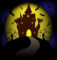 moon halloween vector image vector image