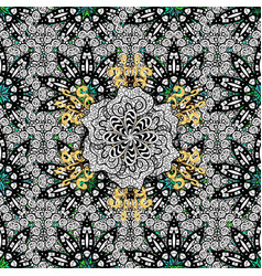 Paisleys elegant floral seamless pattern vector