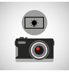Retro camera photographic light effect vector