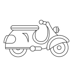 Scooter icon outline style vector image vector image
